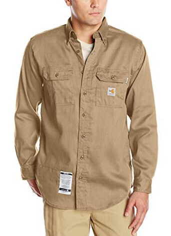 Carhartt Mens Flame Resistant Lightweight Twill Shirt