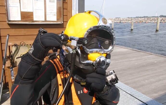 under water welding helmet